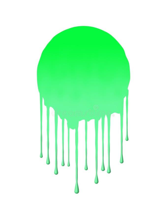 Splat Green. A drippy splattey blob vector illustration