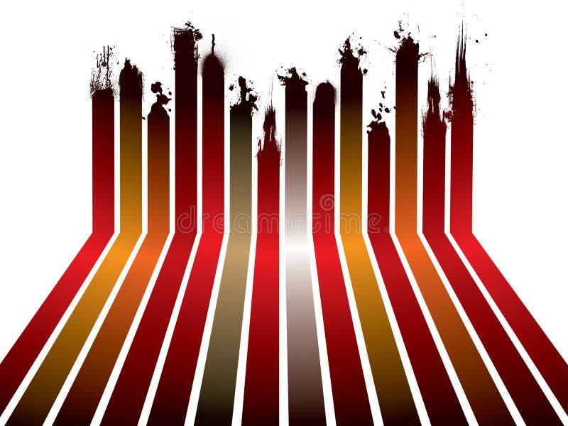 Splat rouge de bande illustration stock