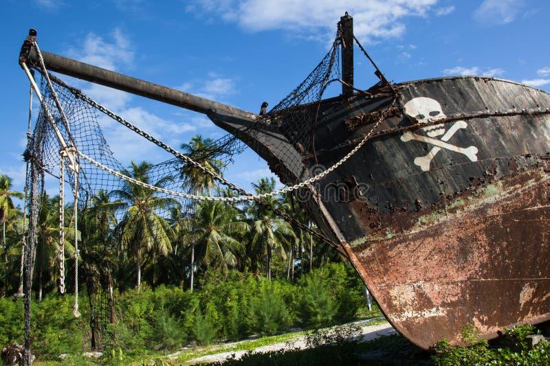 Splatający pirata statek zdjęcia stock