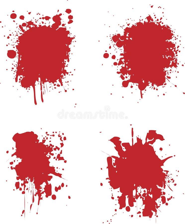Splats de sang illustration libre de droits