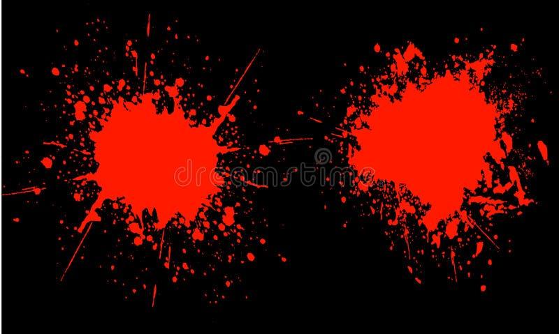 Splats do sangue ilustração royalty free