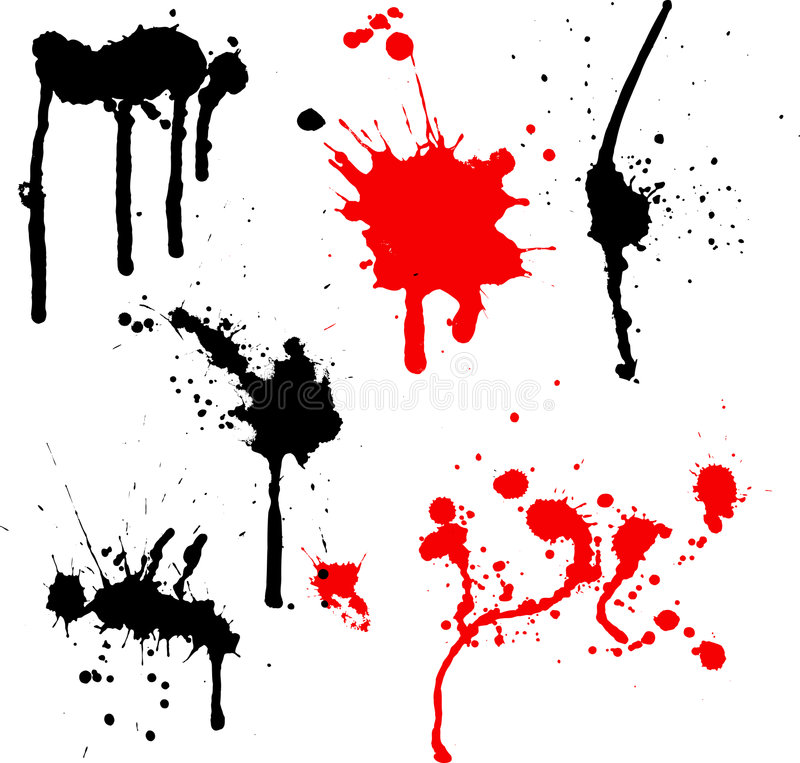 Splats and drips royalty free illustration