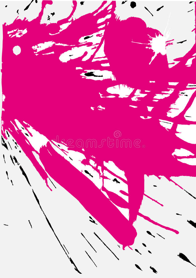splats grunge розовые бесплатная иллюстрация