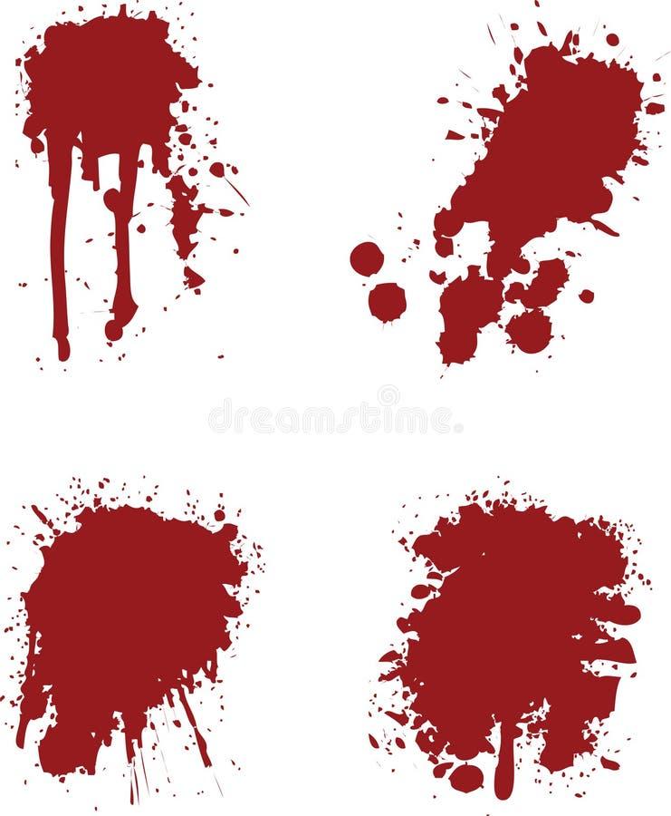 splats krwi royalty ilustracja