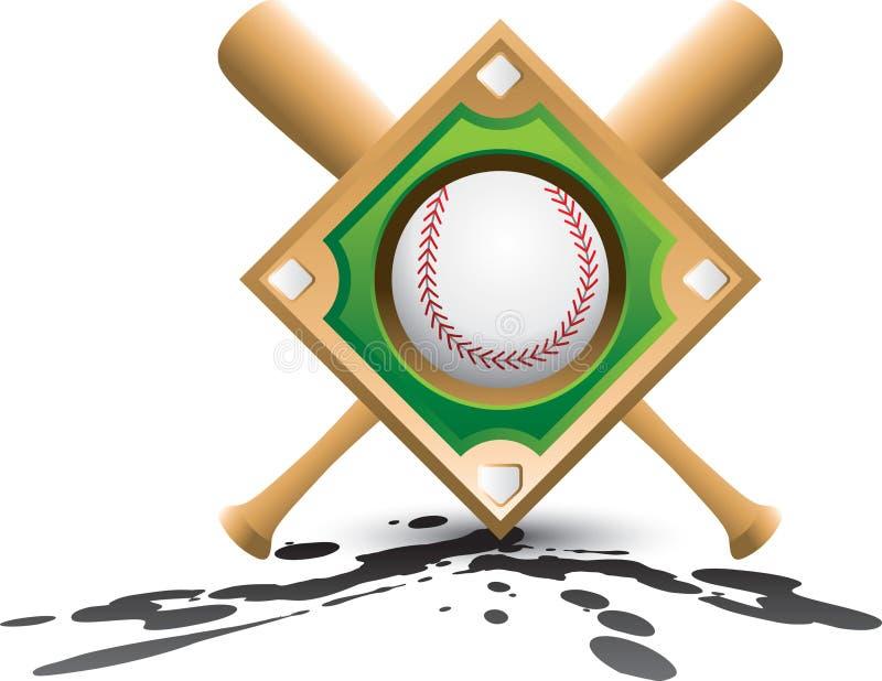 splatter диаманта бейсбольных бита бесплатная иллюстрация