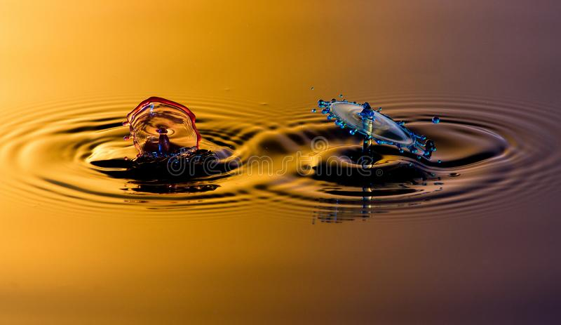 Splatter и выплеск 2 вод стоковые изображения