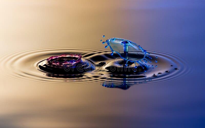 Splatter и выплеск 2 вод стоковое фото