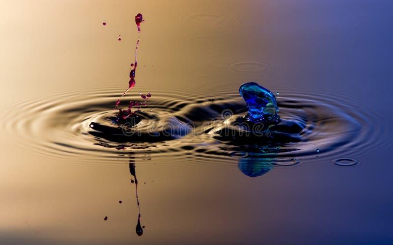 Splatter и выплеск 2 вод стоковая фотография
