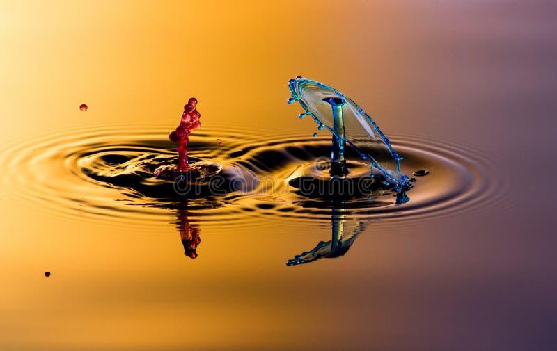Splatter и выплеск 2 вод стоковое изображение