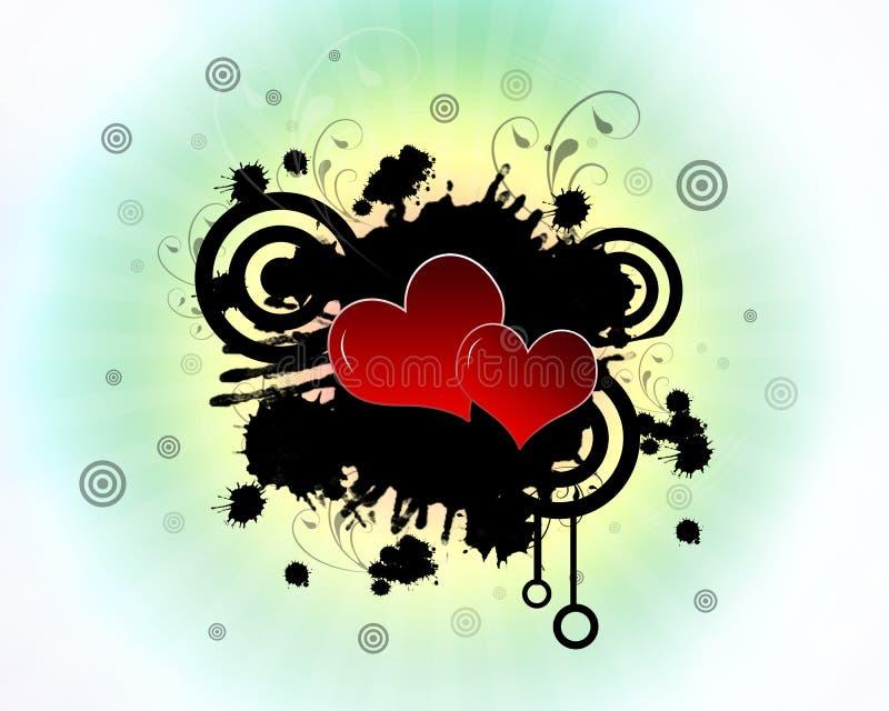 splatter сердец иллюстрация вектора