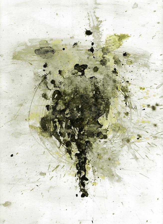 splatter чернил стоковое изображение rf