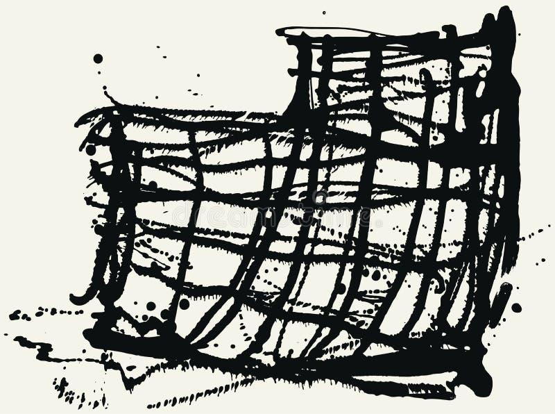 Splatter Black Ink Construction Background. royalty free illustration