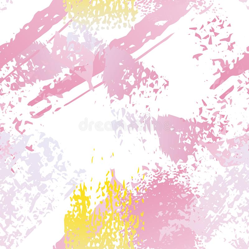 Splatter Brush Stroke Surface. Watercolor Endless royalty free illustration