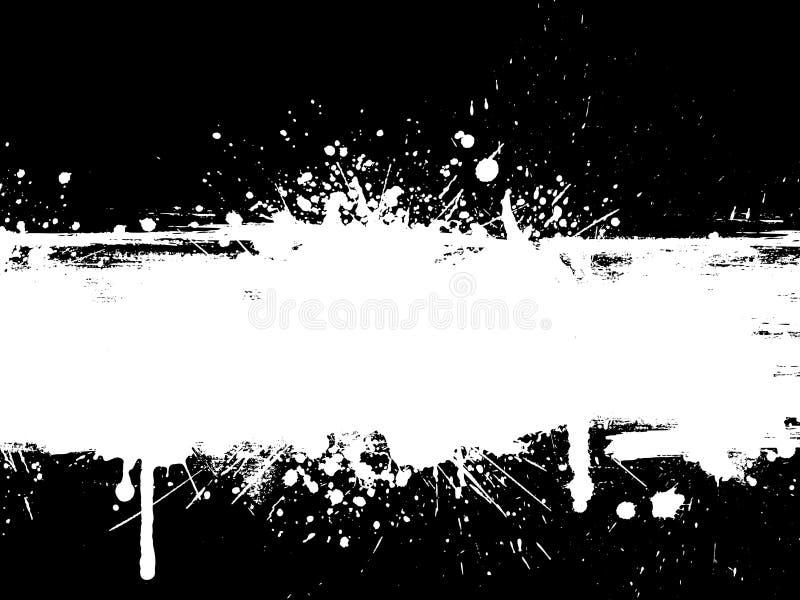 Splatter de Grunge ilustração royalty free