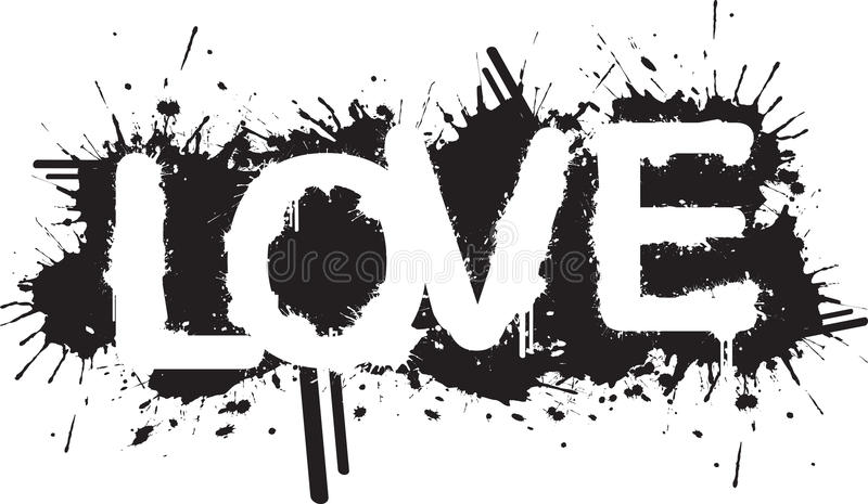 Splatter do amor ilustração royalty free