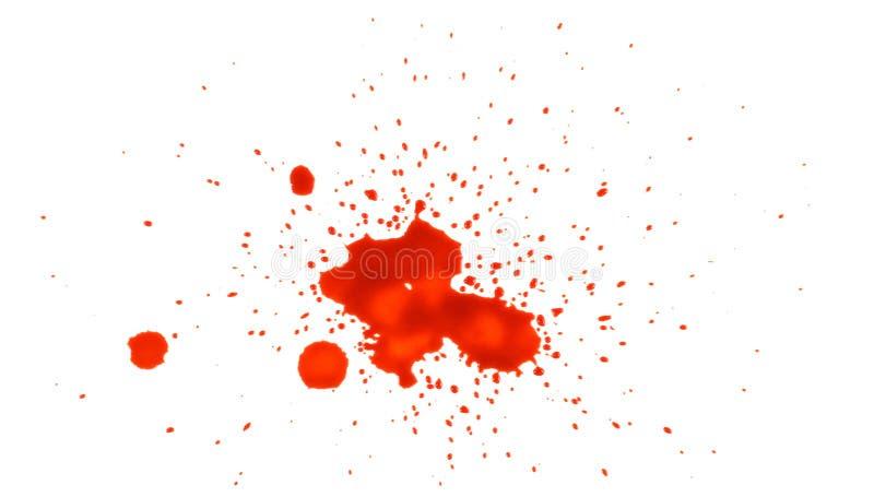 Splatter do sangue fotografia de stock