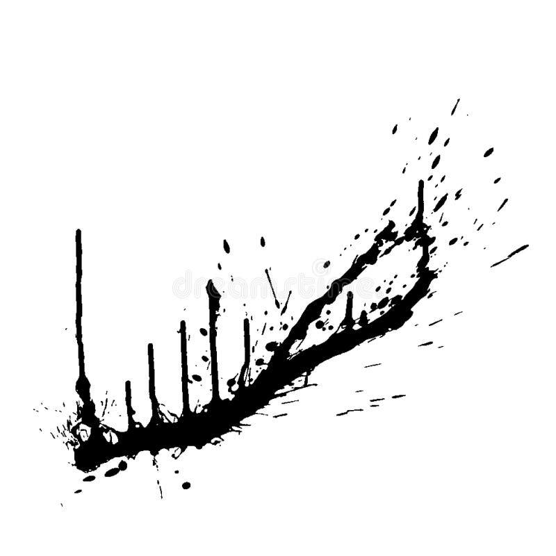 Splatter do sangue ilustração royalty free