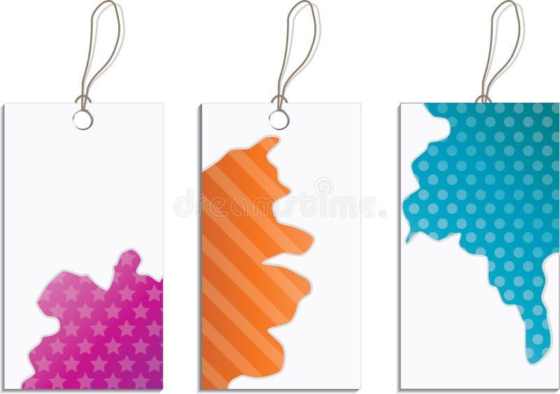 splatter för designetikettset vektor illustrationer