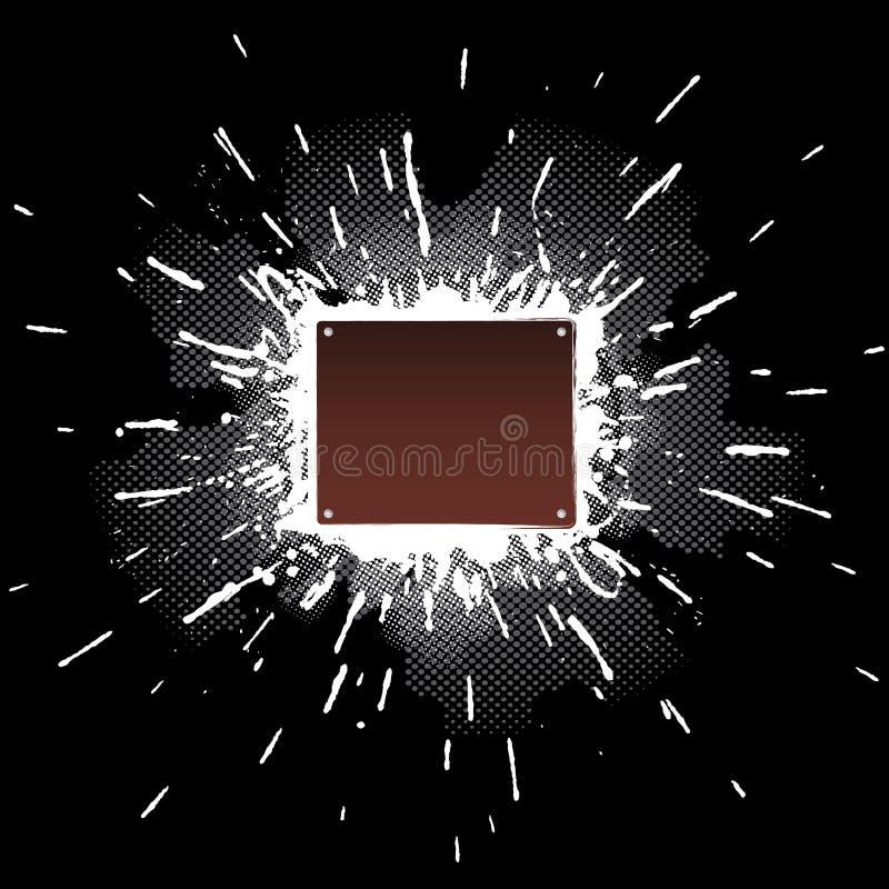 splatter för platta för designelementmetall royaltyfri illustrationer