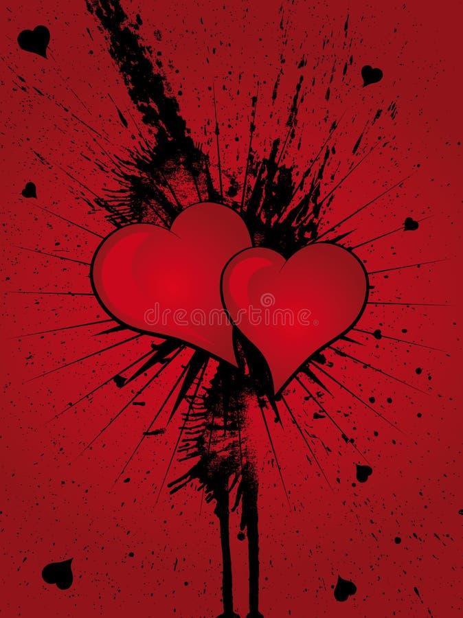 Splatter Grunge сердца стоковое фото rf