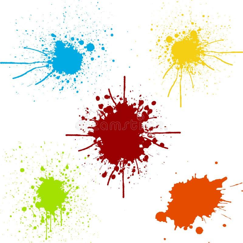 Splatter juczna kolekcja farba kolor ilustracyjny desi royalty ilustracja