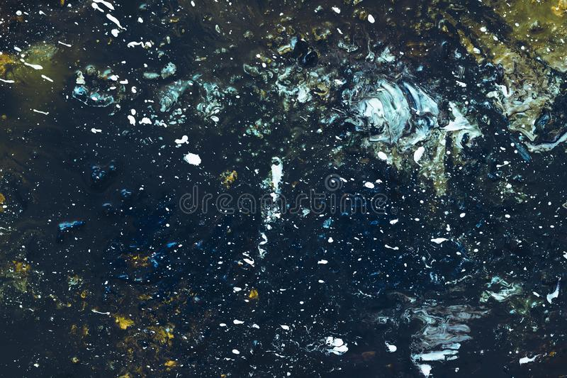 Splatter painting acrylics color background design stock photography