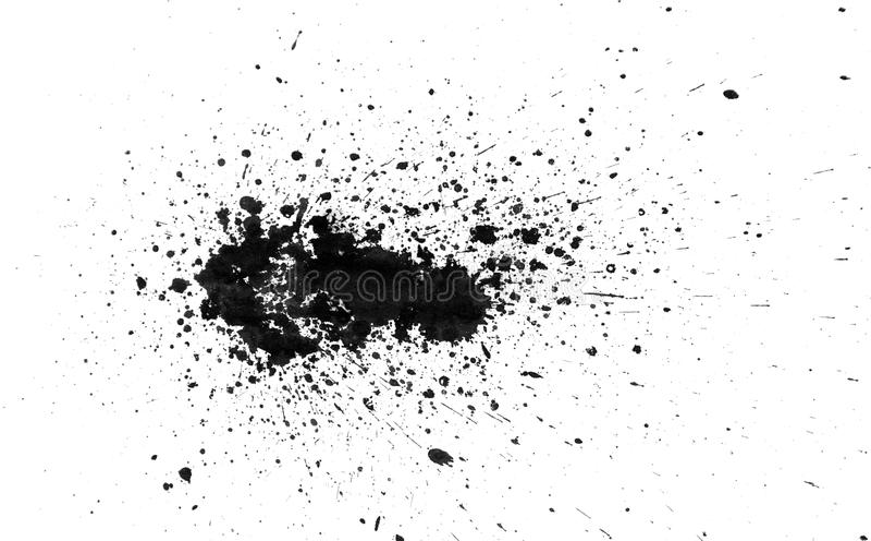 Splatter preto da tinta ilustração do vetor