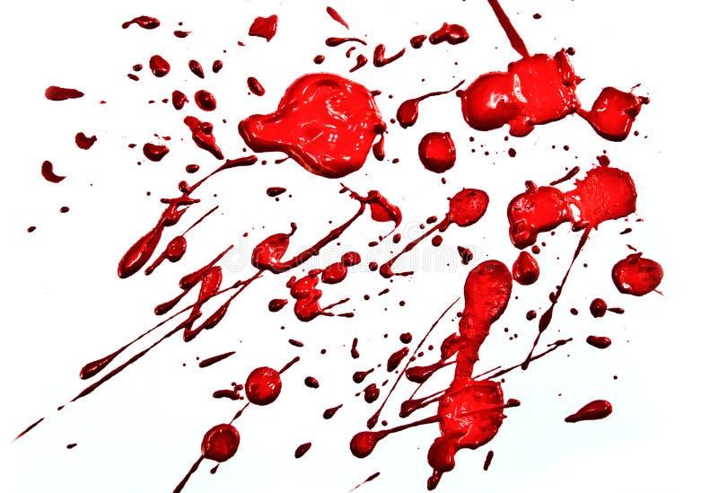 Splatter rosso fotografie stock