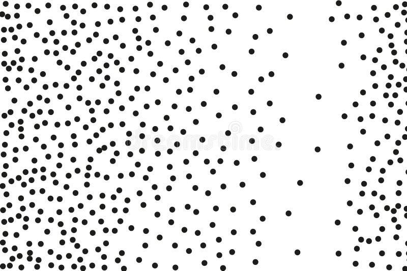 Splatter tło Czarni błyskotliwość ciosu splats na bielu i wybuch Czarny atramentu cios Przypadkowa polki kropki wektoru ilustracj ilustracja wektor