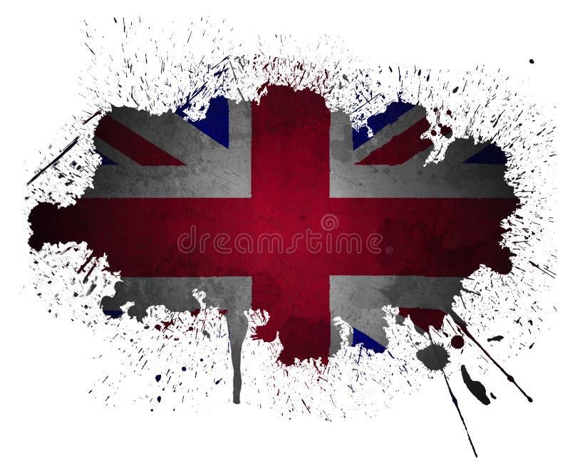 splatter uk för flaggagrungemålarfärg vektor illustrationer