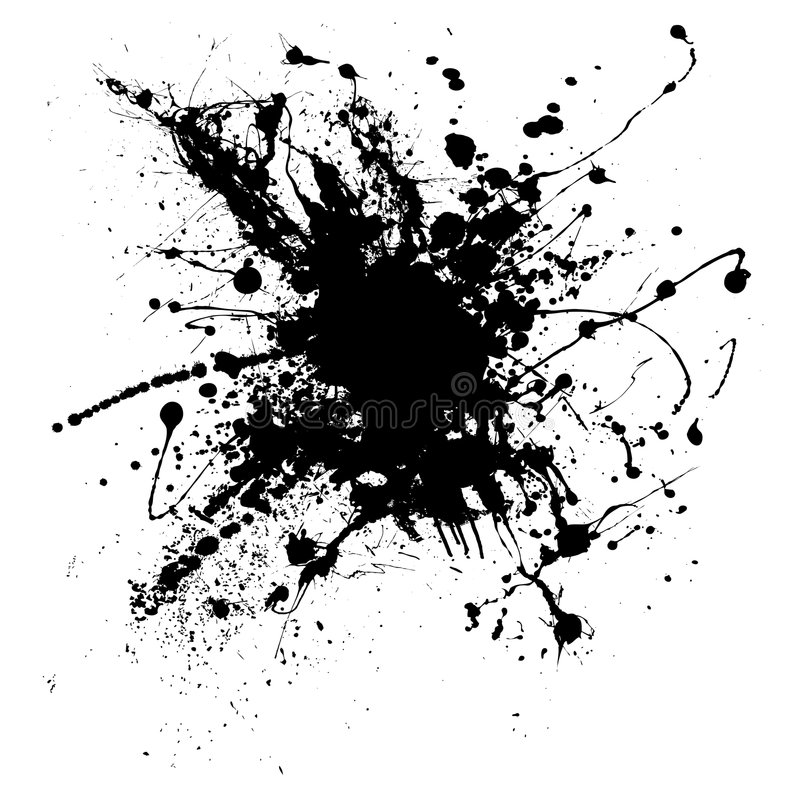 Splatter uno dell'inchiostro illustrazione vettoriale