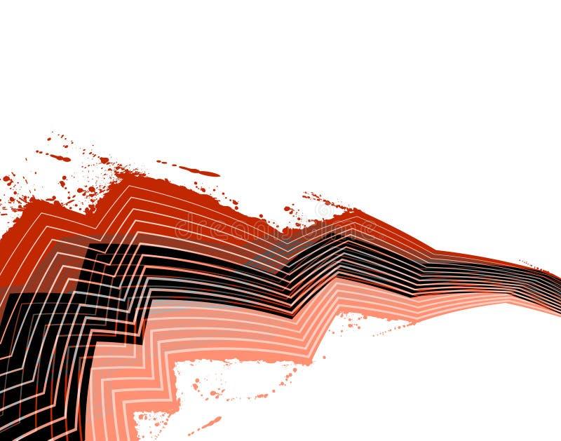 splatter zigzag royalty ilustracja