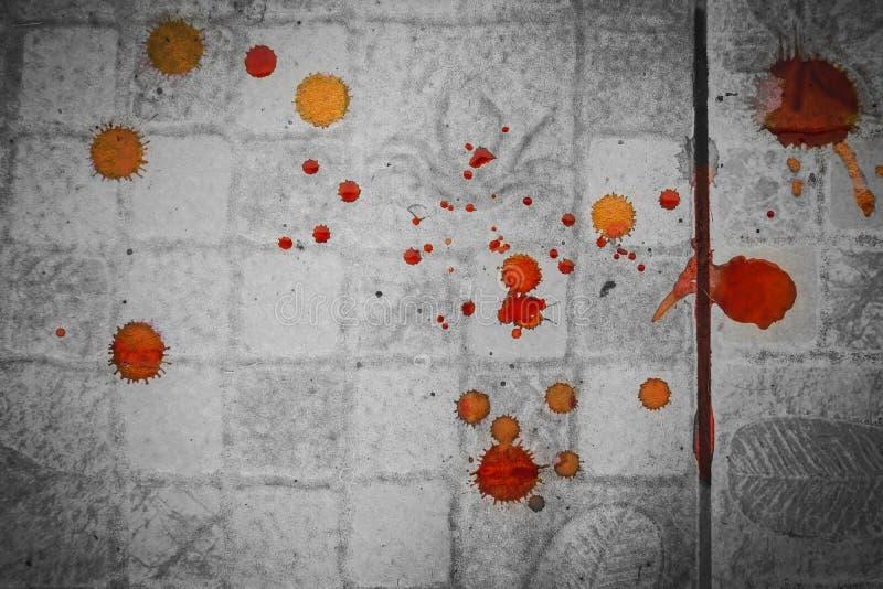Splattered пятно крови стоковые фото