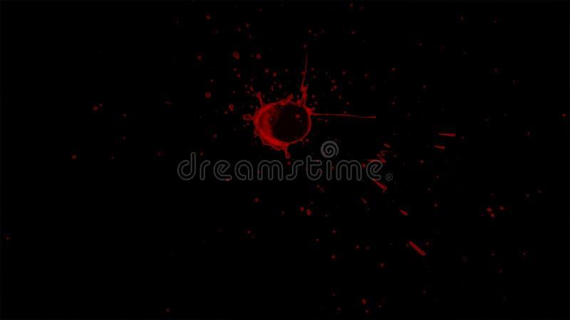 Splattered элемент крови стоковое фото rf
