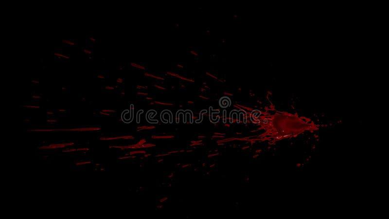 Splattered элемент крови стоковые фотографии rf