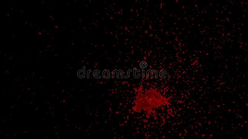 Splattered элемент крови стоковое фото