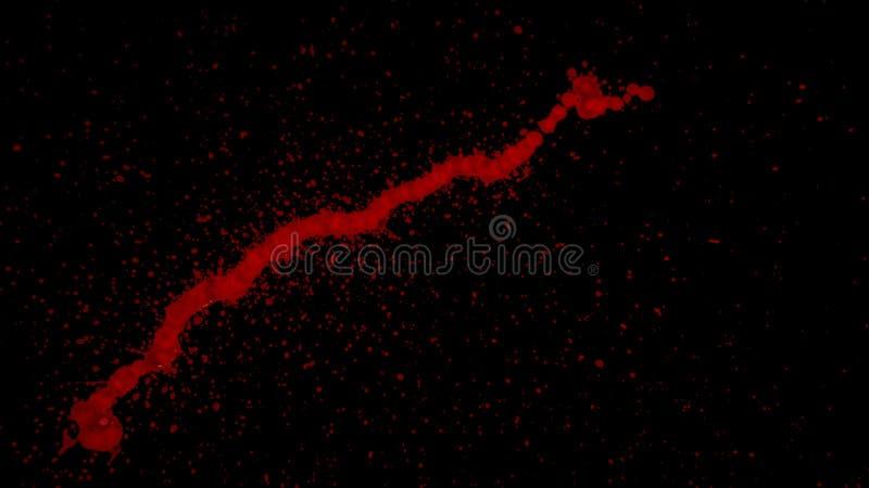 Splattered элемент крови стоковая фотография rf