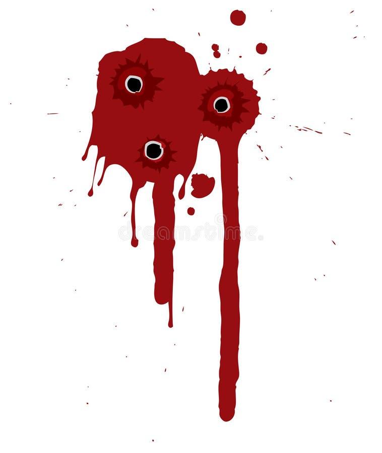 splattered blodmodell stock illustrationer