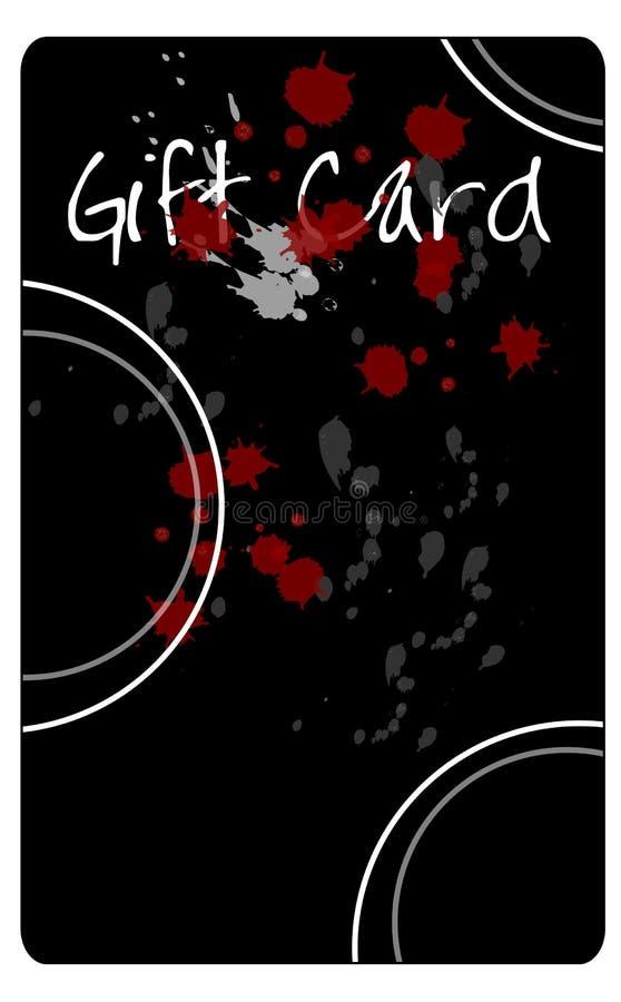 Splattered Gift Card Royalty Free Stock Image