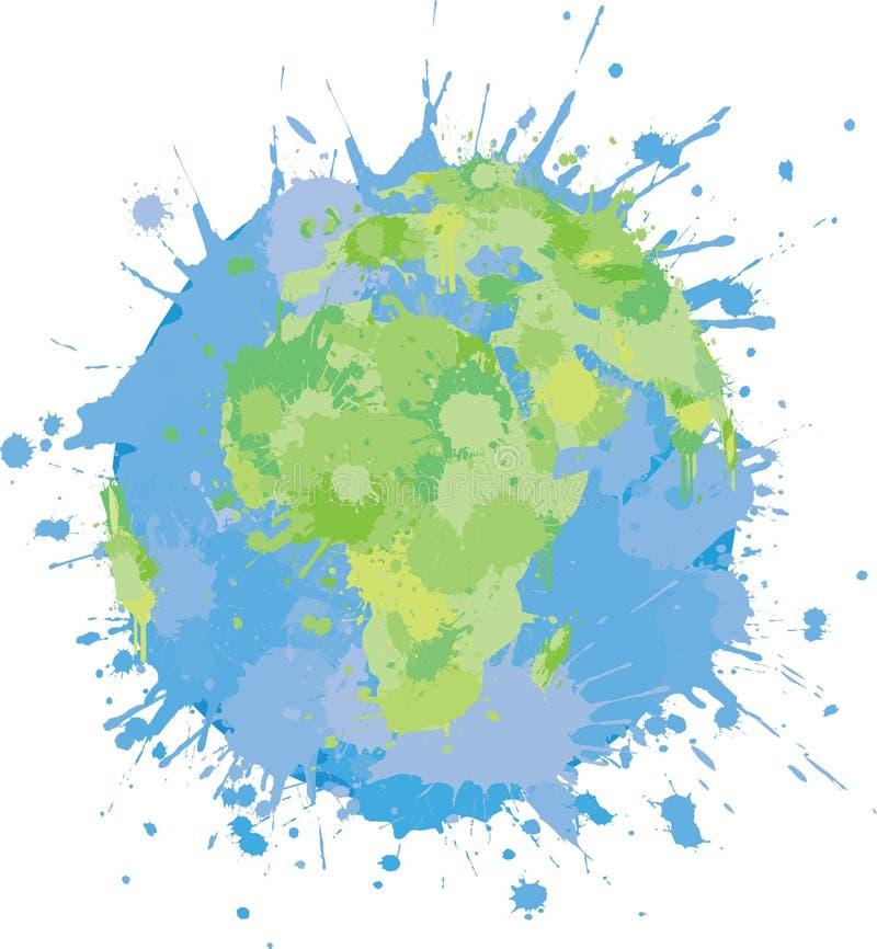 Splattered World Graffiti stock illustration