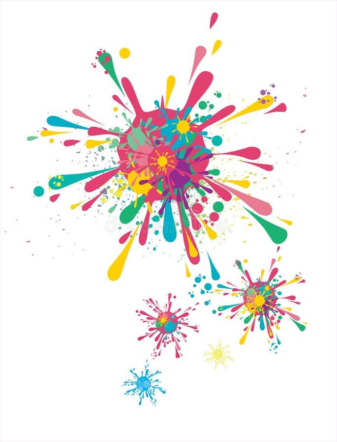 Splattering gotas ilustração do vetor