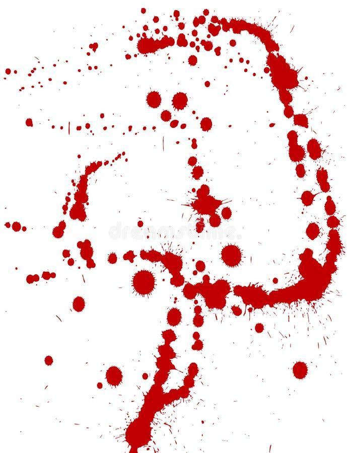 Splatters da tinta ilustração do vetor