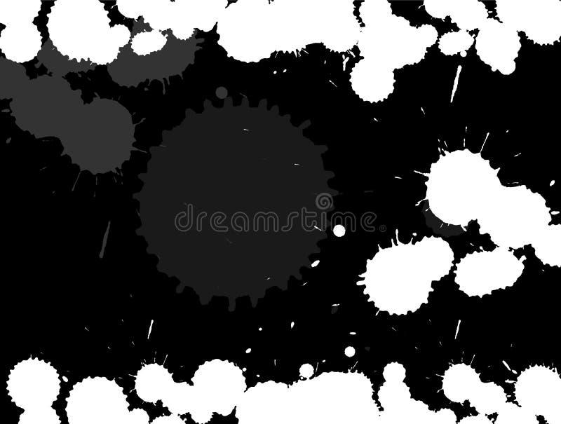 Splatters da tinta ilustração royalty free