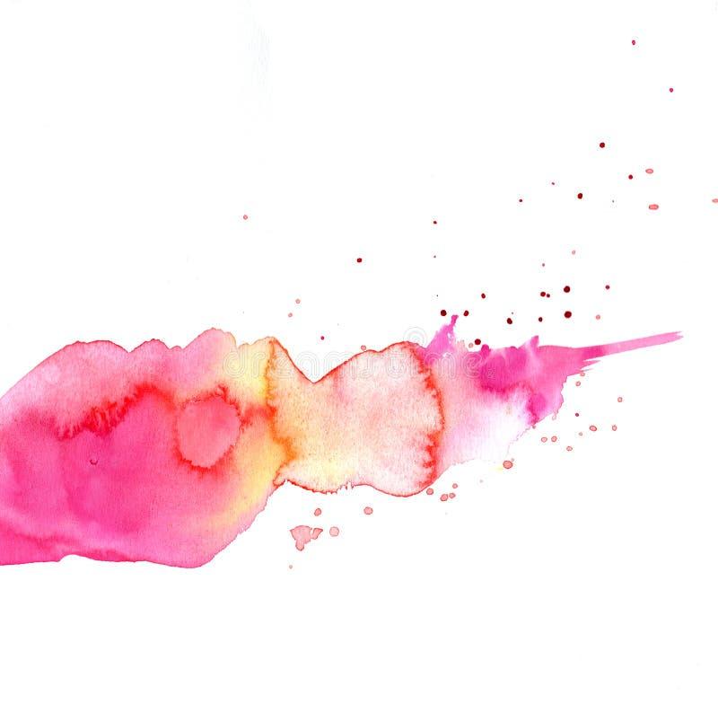 Splatters di colore rosa royalty illustrazione gratis