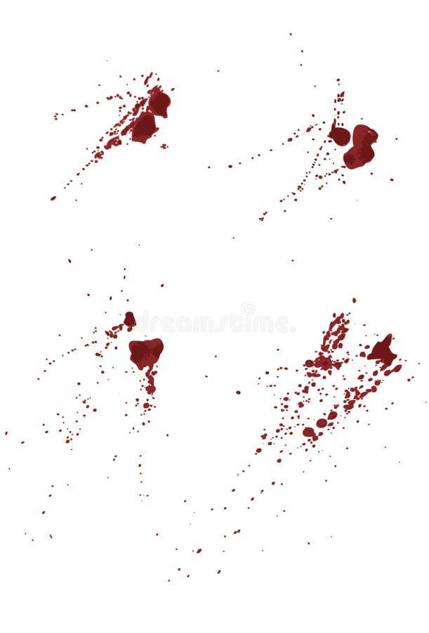 splatters för blodsamlingsmålarfärg stock illustrationer