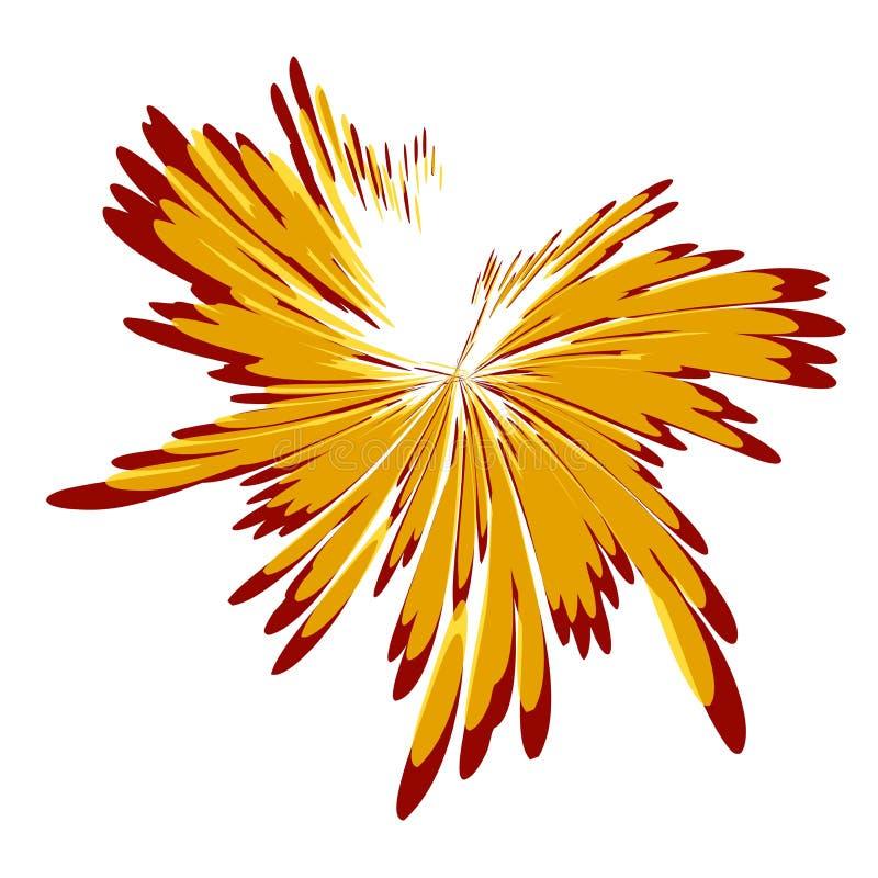 splatters för spill för guldmålarfärg röda vektor illustrationer