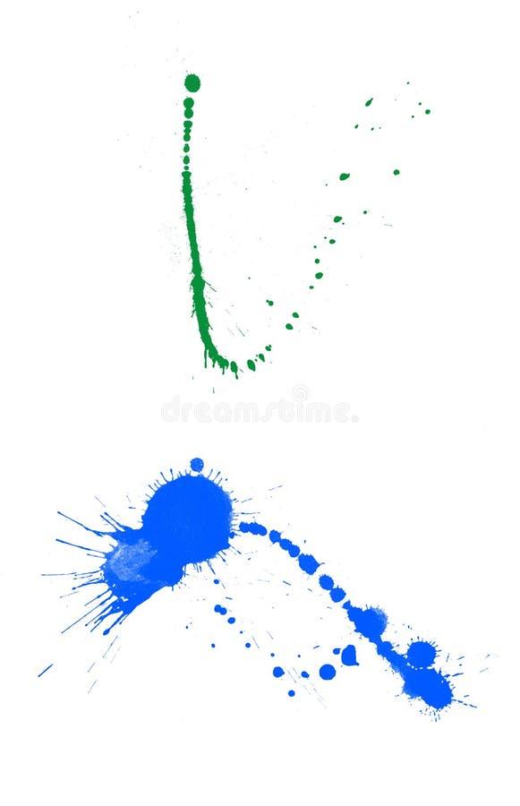 splatters farb drukarskich royalty ilustracja