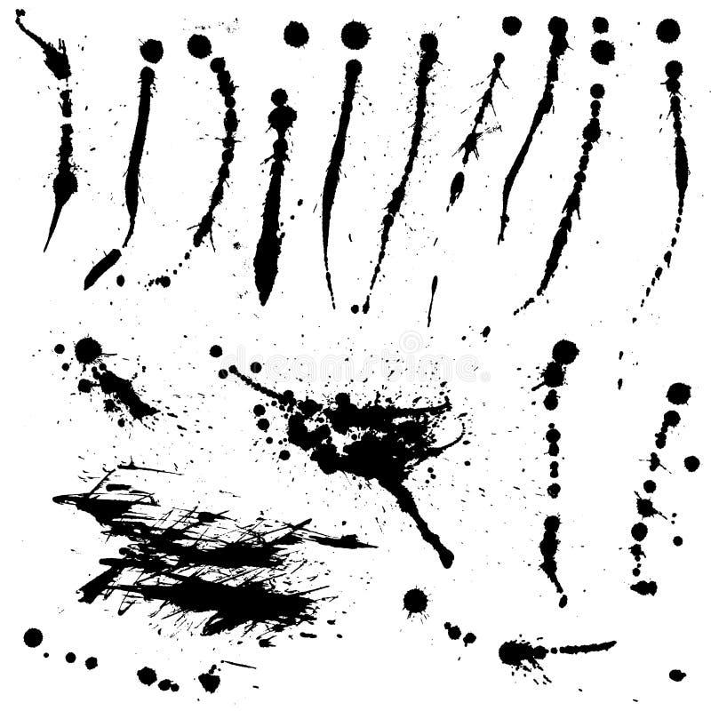 splatters farb drukarskich ilustracja wektor