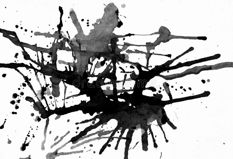 Splatters neri dell'inchiostro royalty illustrazione gratis
