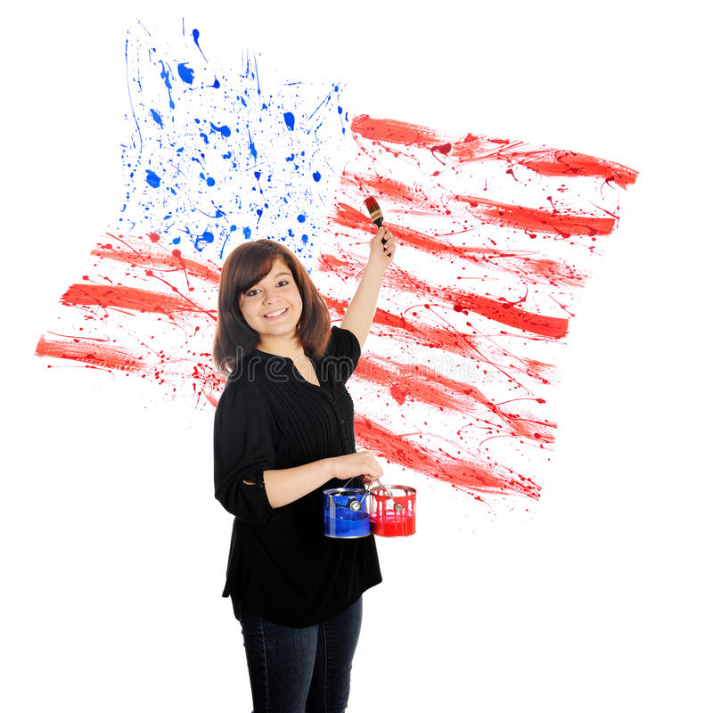 Splatters patriottici immagine stock libera da diritti